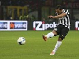 milan 0-2 juventus: tevez unleashes rocket shot to ensure victory for bianconeri